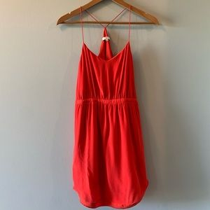 Madewell 100% Silk Starview Red Cami Dress Size 4